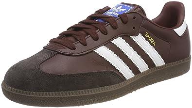 669d13613068d adidas Men's Samba Og Gymnastic Shoes, Mystery Core Black/Night Brown, UK  7.5