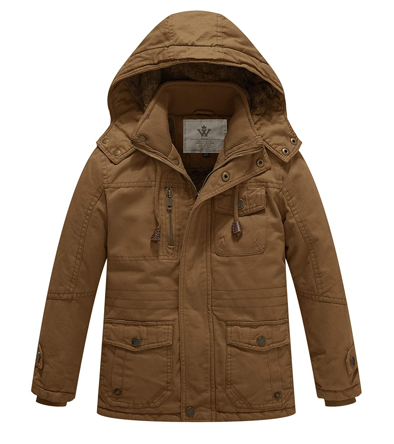 WenVen Boy's and Girl's Active Jacket with Removable Hood