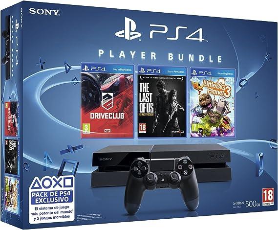 PlayStation 4 - Consola + Triple Pack (LittleBigPlanet 3 + The Last Of US + Driveclub): Amazon.es: Videojuegos