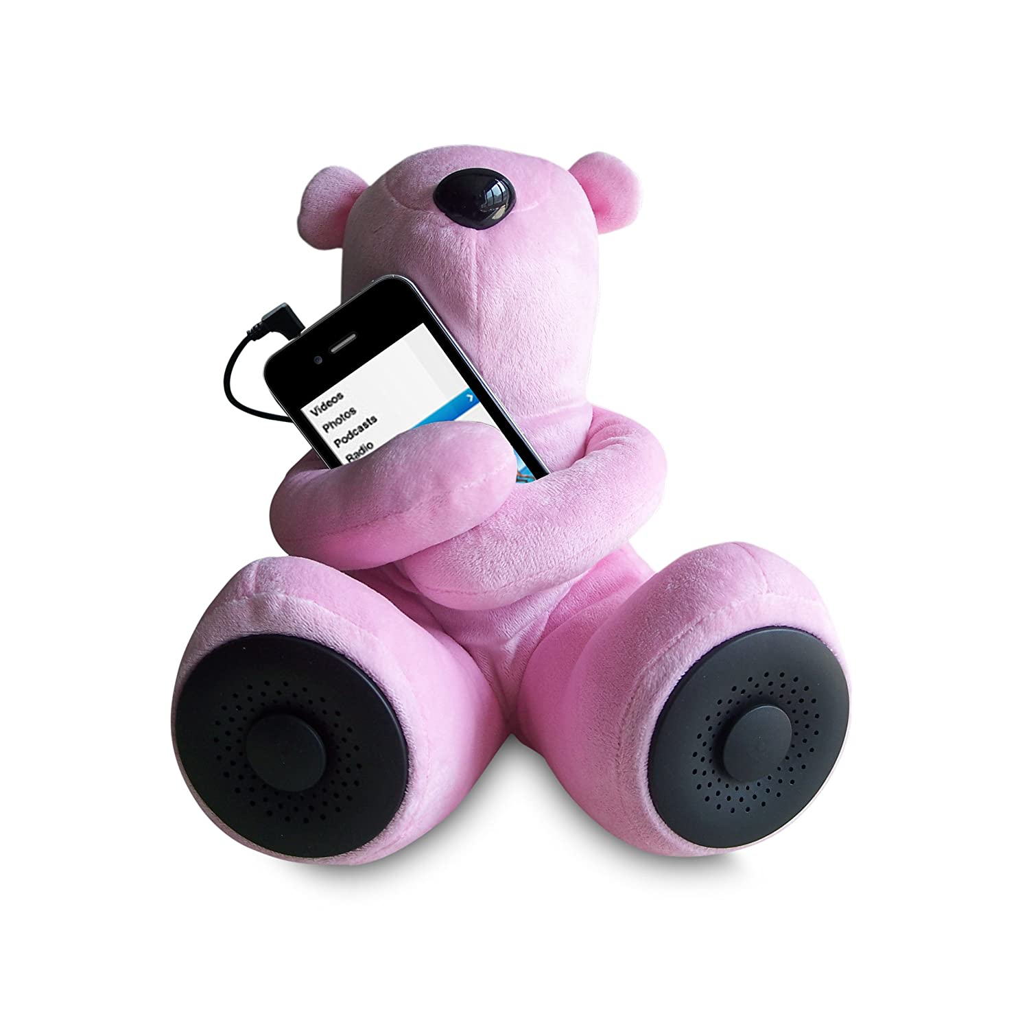 Sungale S-T1 Portable Teddy Speaker For iPod MP3 iPhone Pink Smartphone Media Player