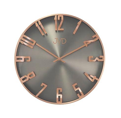 Wanduhr Uhr Design Rosegold Grau Wohnzimmeruhr gut lesbar ...