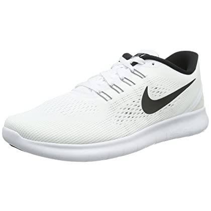 2919459b35e39 NIKE Mens Free RN Running Shoes White Black 831508-100 Size 12