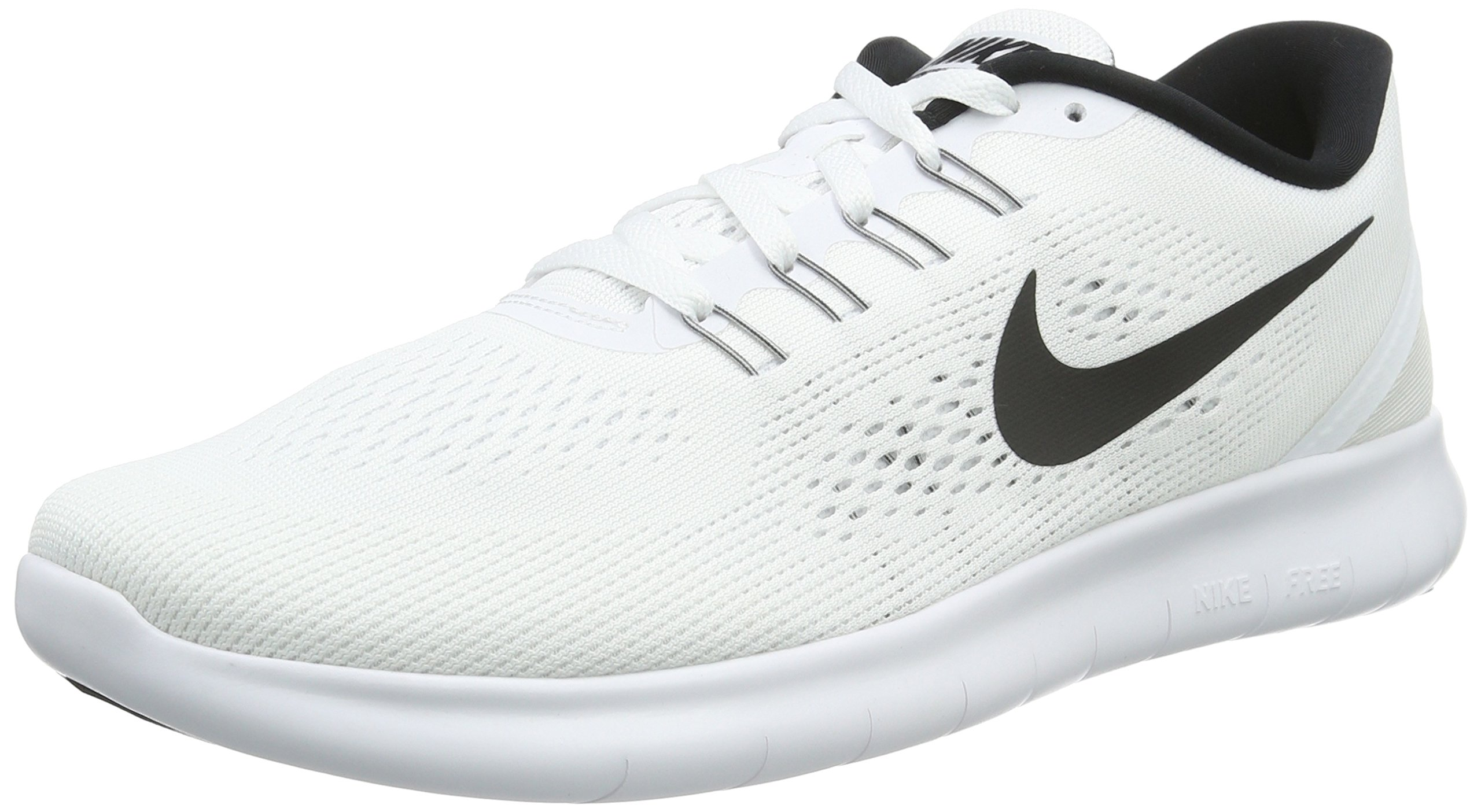 buy online dced3 bda11 Galleon - Nike Mens Free RN Running Shoes White Black 831508-100 Size 9.5