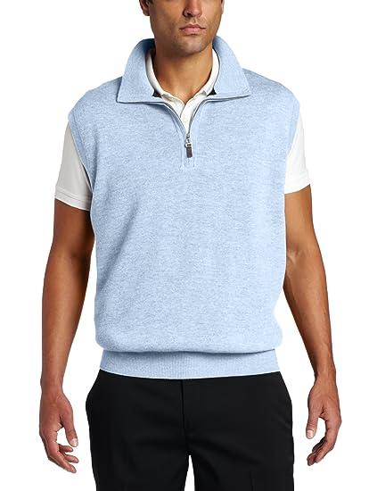 cc96aba828b Amazon.com  Fairway   Greene Men s Merino 1 4 Zip Wind Vest