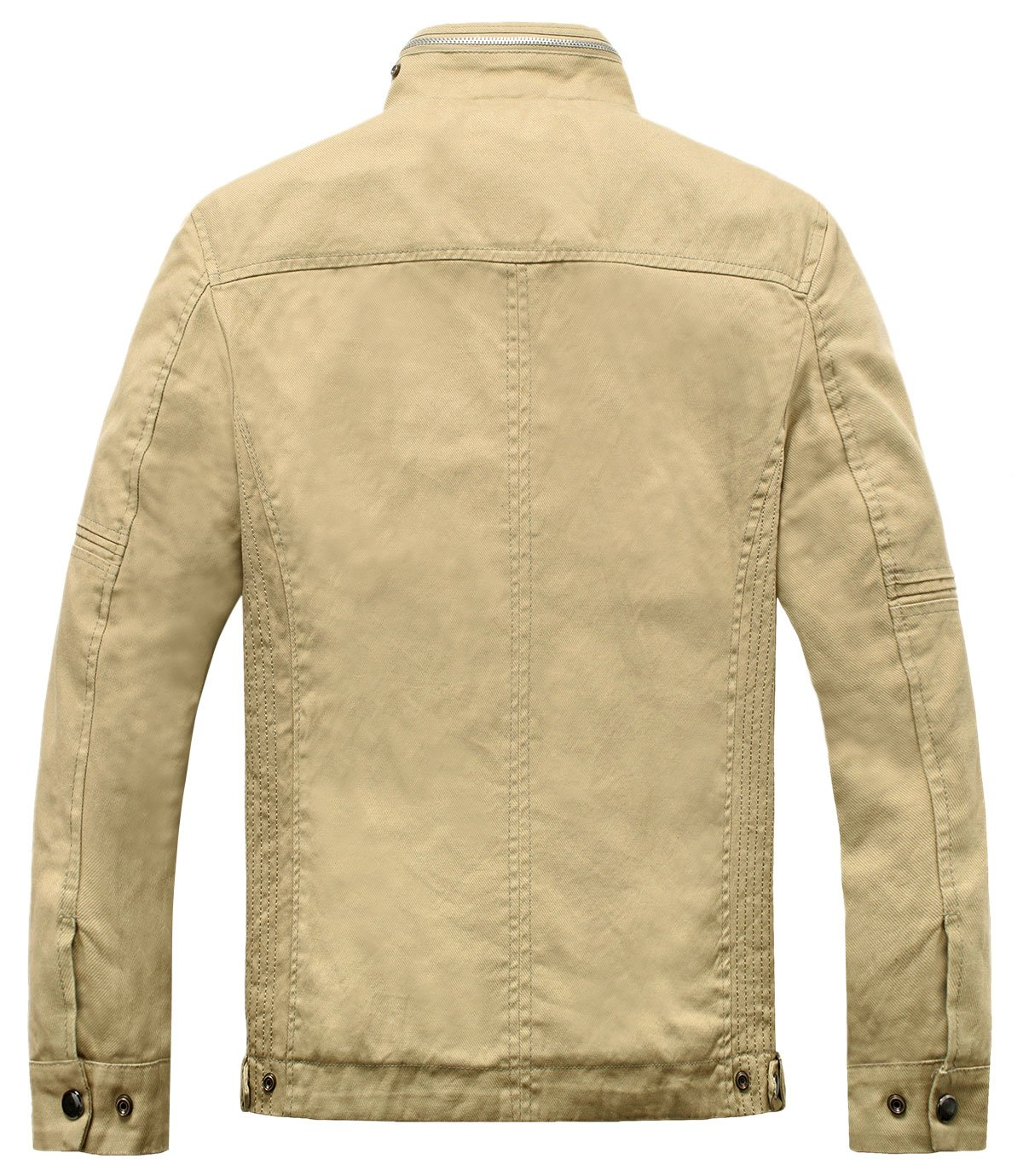 bf9575461 Wantdo Men's Cotton Stand Collar Lightweight Front Zip Jacket US Medium  Khaki - WT0867 < Cotton < Clothing, Shoes & Jewelry - tibs