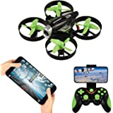 RC Quadcopter with HD FPV Camera,APP Voice Control RC Drone with Altitude Hold, Gravity Sensor and Headless Mode RC Helicopter 2.4GHz 4 Channel 6 Axis Gyro