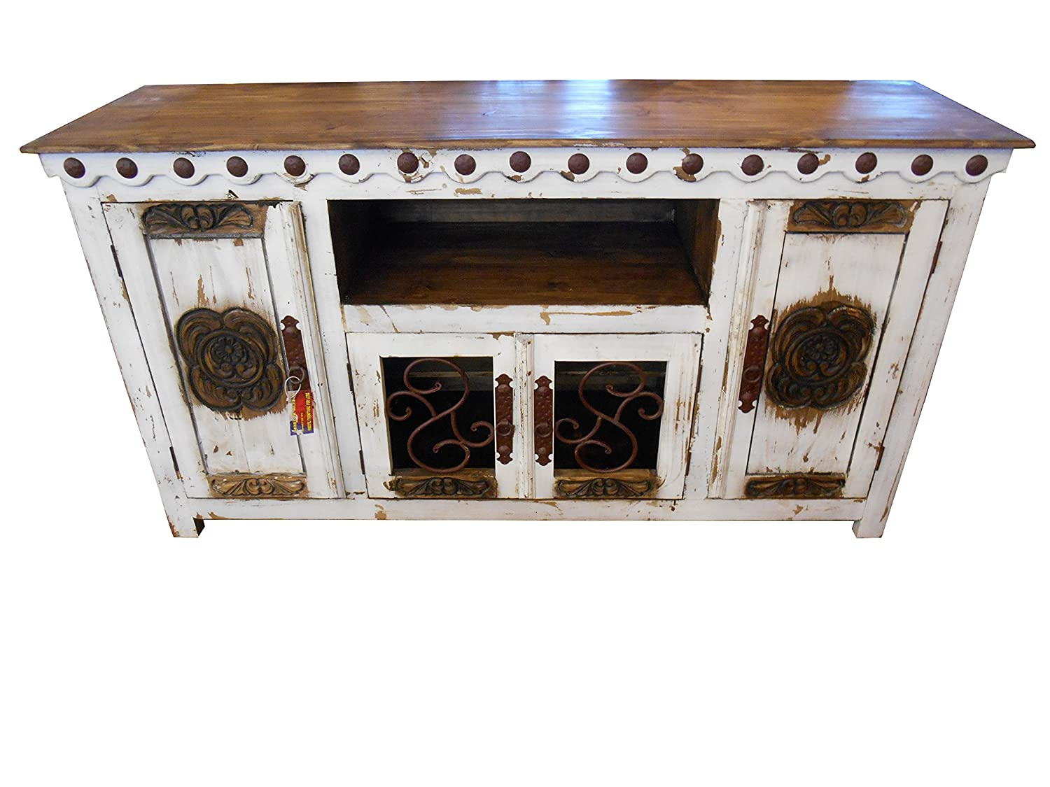 Amazon hi end rustic medieval hand scrape 67 inch tv stand amazon hi end rustic medieval hand scrape 67 inch tv stand available in 3 colors white kitchen dining geotapseo Images