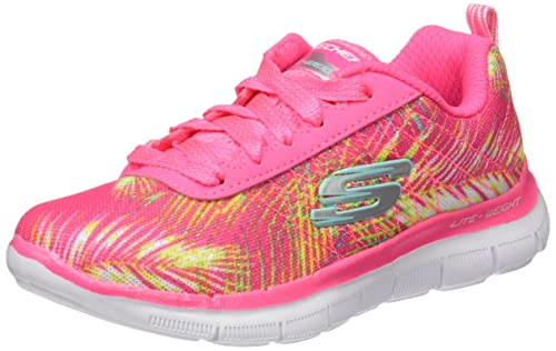 Skechers Girls Skech Appeal 2.0 Tropical Breeze Trainer,Hot PinkMulti,US