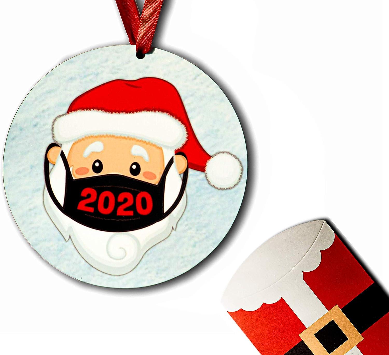 2020 Christmas Ornaments Santa Quarantine Covid Ornaments Friends Xmas Tree Décor Holiday Family Small Presents 1PC (Santa)