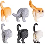 Juvale Set of 6 Cat Butt Magnets - Funny Animal