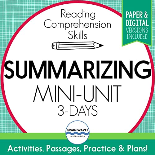 Teaching Students How To Summarize Can Be A Daunting Task. Often, It's One  Of The Hardest Reading Strategies For Students To Grasp. That's Where This  Mini-unit Comes In. Filled With Summarizing Reading Passages, Worksheets,  And Graphic Organizers, This Unit