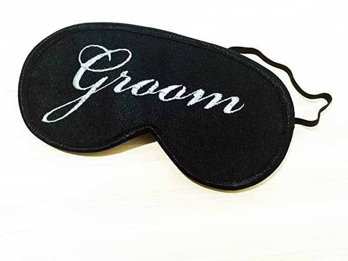 Novio y Novia dormir máscaras, antifaz para dormir, regalo de bodas para parejas, noche máscara, máscara de ojo dormir cubierta de ojos, máscara, viajes, ...