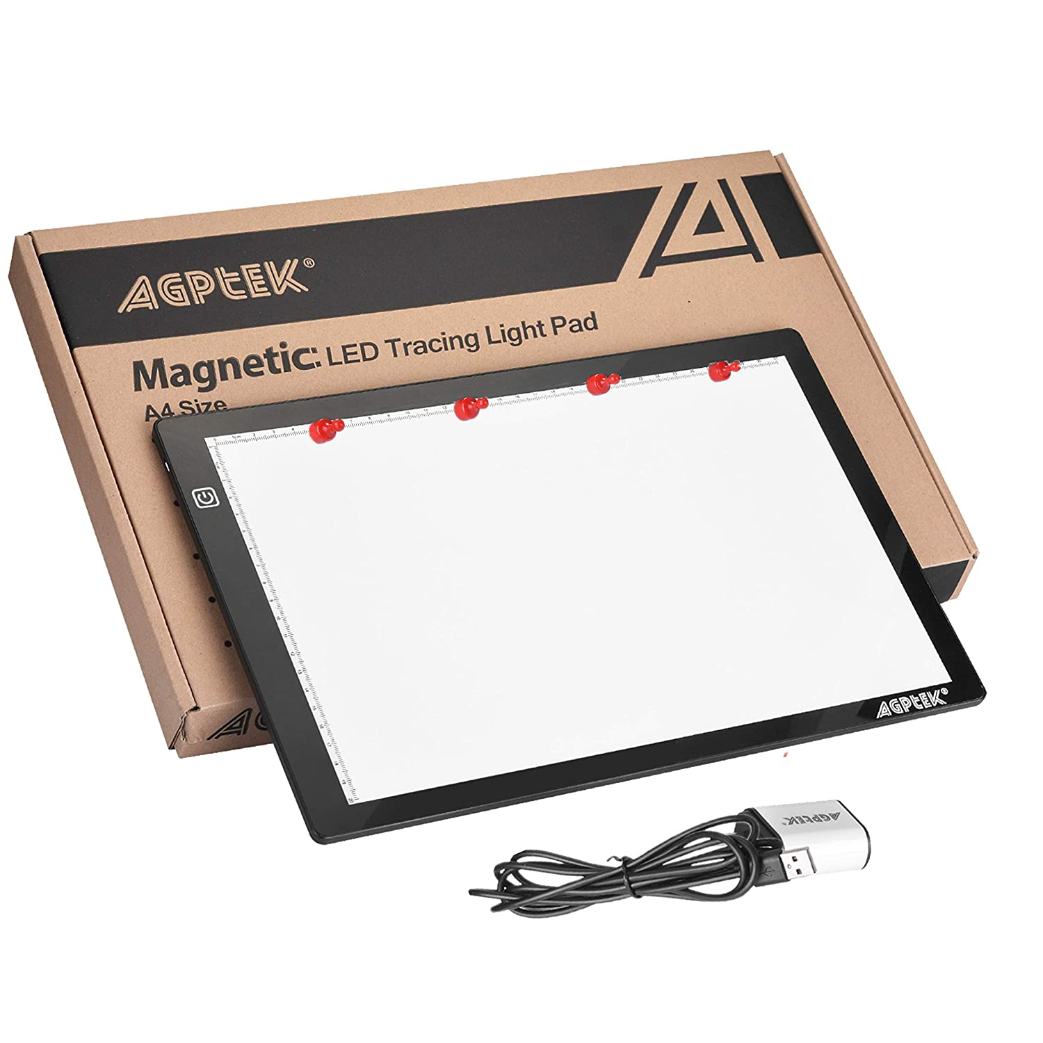 AGPtEK LED Tracing Light Box 14.7 Inch X 9.45 Inch Drawing Tablet Pad Adjustable Brightness For Sketching Drawing Projects HL0163-BTS1