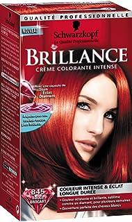schwarzkopf brillance coloration permanente rouge brocart 845 - Meilleure Coloration Rouge
