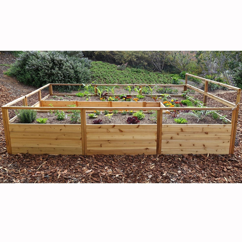 Amazon.com: 8\' x 12\' Cedar Raised Garden Bed: Garden & Outdoor