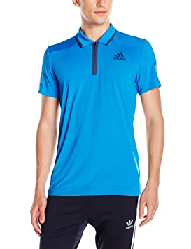 adidas Men's Barricade Polo Shirt, Shock BlueMineral Blue