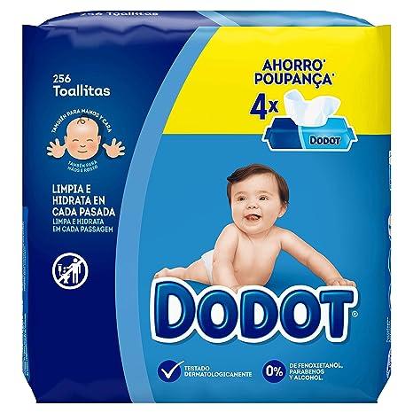 Dodot Toallitas para Bebé, 4 Paquetes de Unidades, 256 Toallitas ...