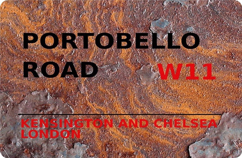 Amazon.de: Blechschild London Street Sign Portobello Road Kensington &  Chelsea W11 Rust Metallschild