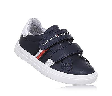 64b7a1a3453e Tommy Hilfiger T1X4-00149-0057X Navy Leather 11 UK Child  Amazon.co ...