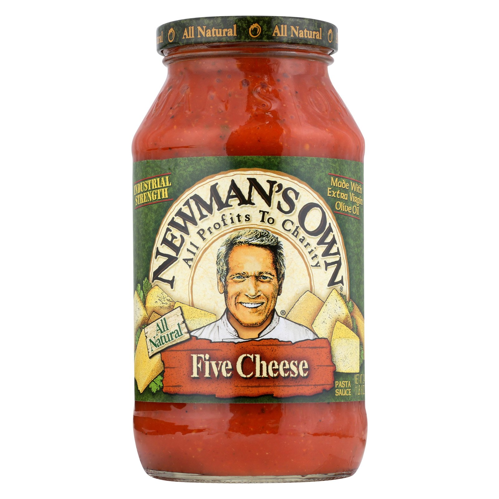 Newman's Own Pasta Sauce Five - Cheese - Case of 12 - 24 Fl oz. by Newman's Own