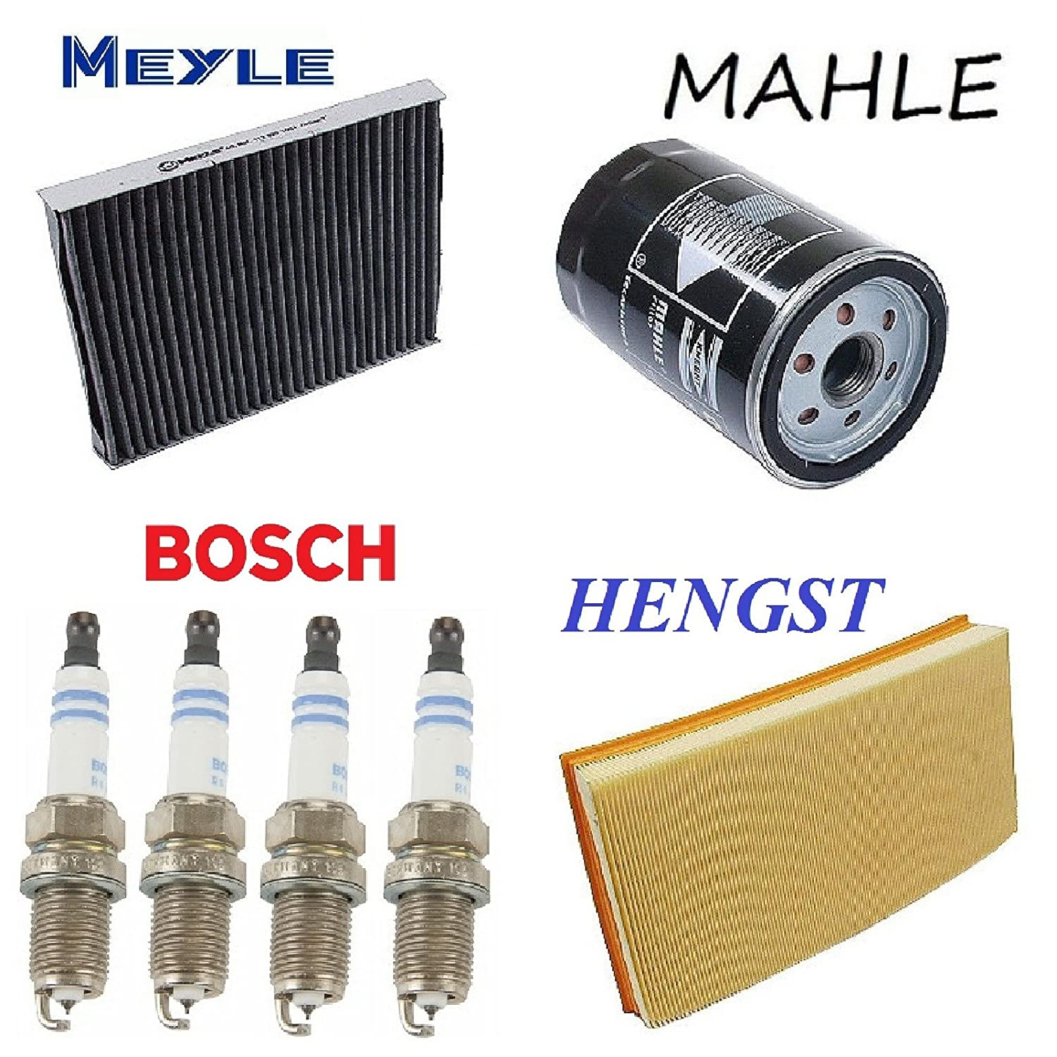 Tune Up Kit Oil Cabin Air Filters Spark Plugs for Audi TT 2001-2006 From 9//00