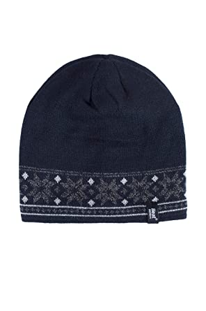 59eeb39bf9951 Heat Holders Mens 1 Pack 3.4 Tog Fairisle Hat In Navy One Size Navy   Amazon.co.uk  Clothing