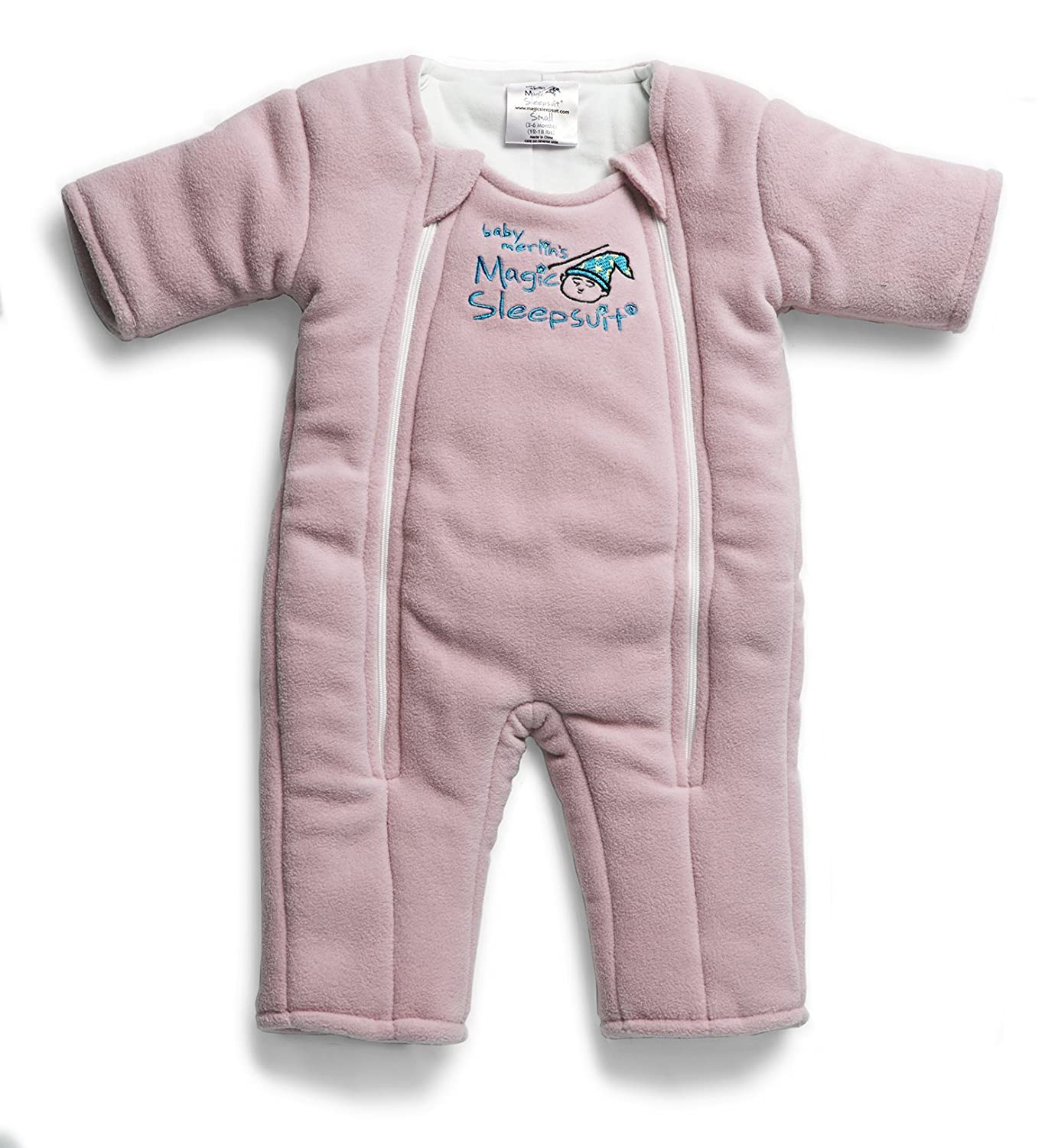 Baby Merlin's Magic Sleepsuit - Swaddle Transition Product - Microfleece - Pink 3-6 Months