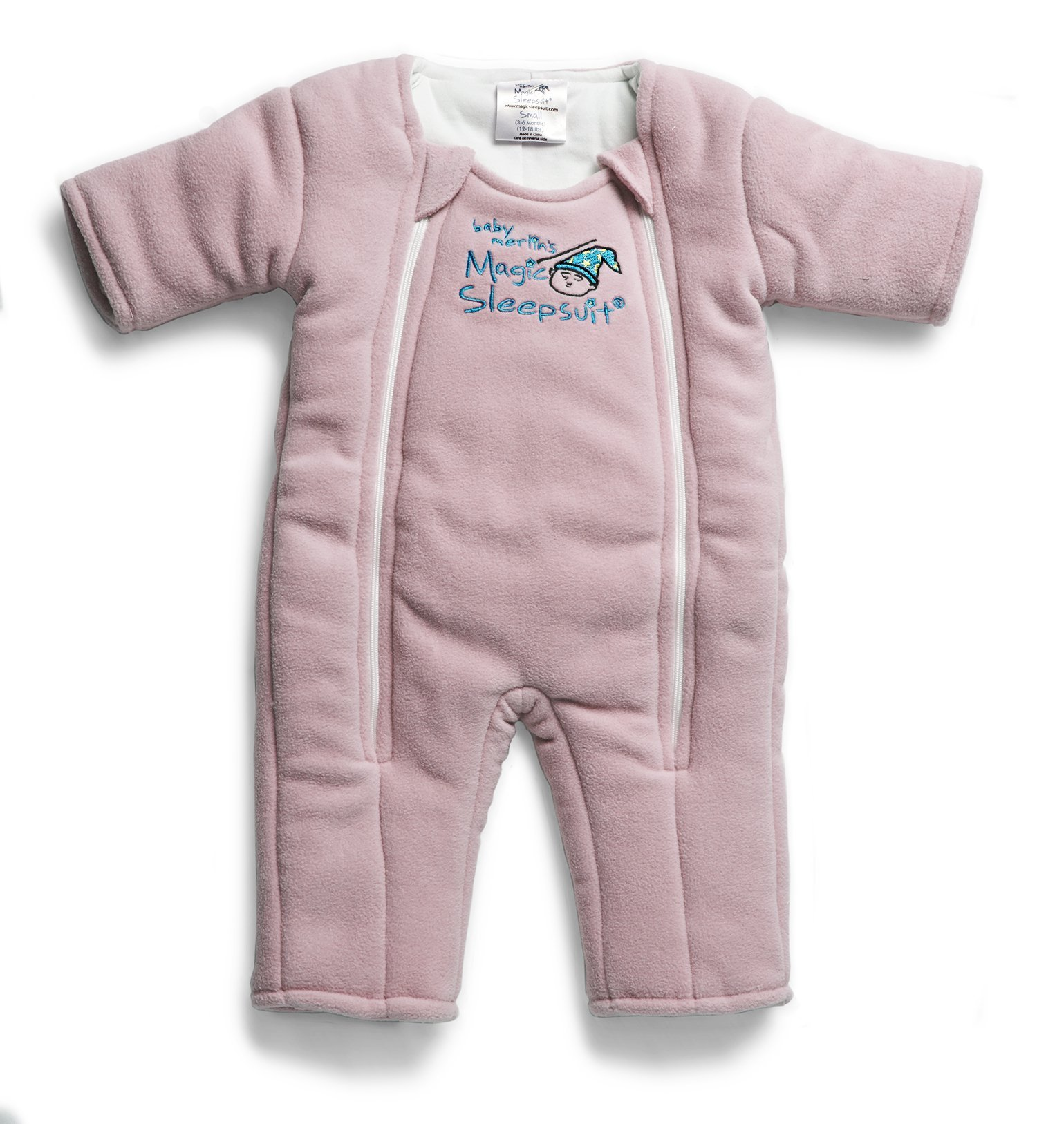Baby Merlin's Magic Sleepsuit Microfleece - Pink - 3-6 months by Baby Merlin's Magic Sleepsuit