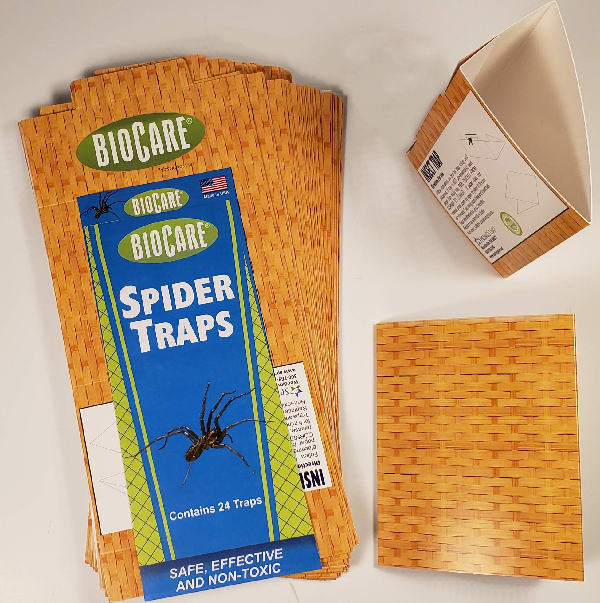 BioCare   Superior Spider & Silverfish Traps (Contains 24 Complete Traps)   Non-Toxic & Pesticide Free   Family & Pet Friendly  Value Bulk Pack Made in USA by BioCare