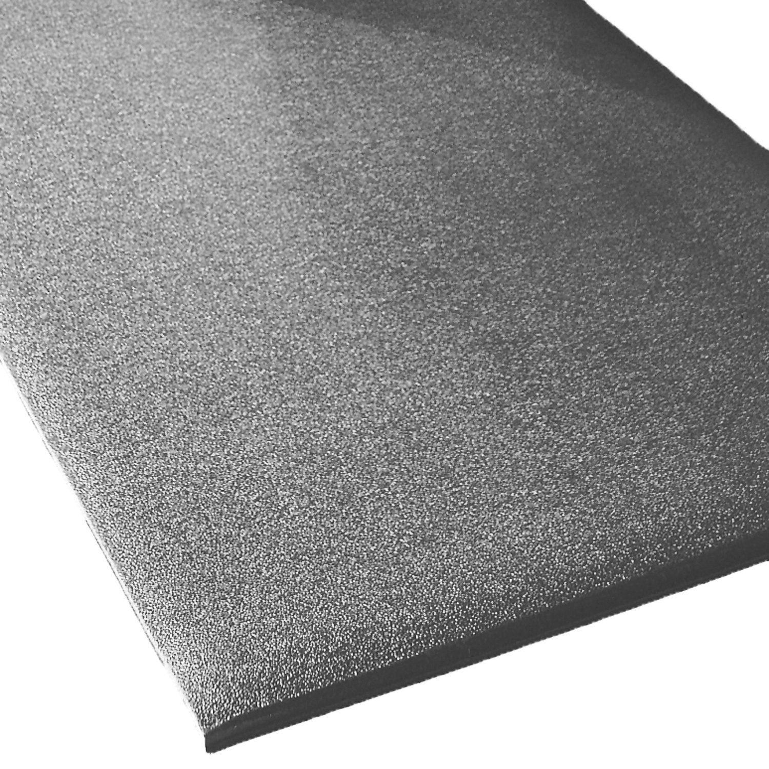 Rhino Mats CST-220-58G Comfort Step Textured Vinyl Foam Anti-Fatigue Mat, 2' Width x 20' Length x 5/8'' Thickness, Gray by Rhino Mats