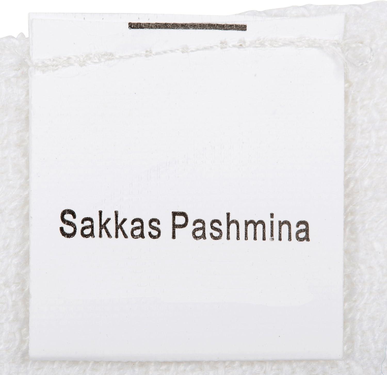 Sakkas a Doppio Strato di tessuto Patterned Confine Sentire Come Pashmina Scialle//Stole per le Donne