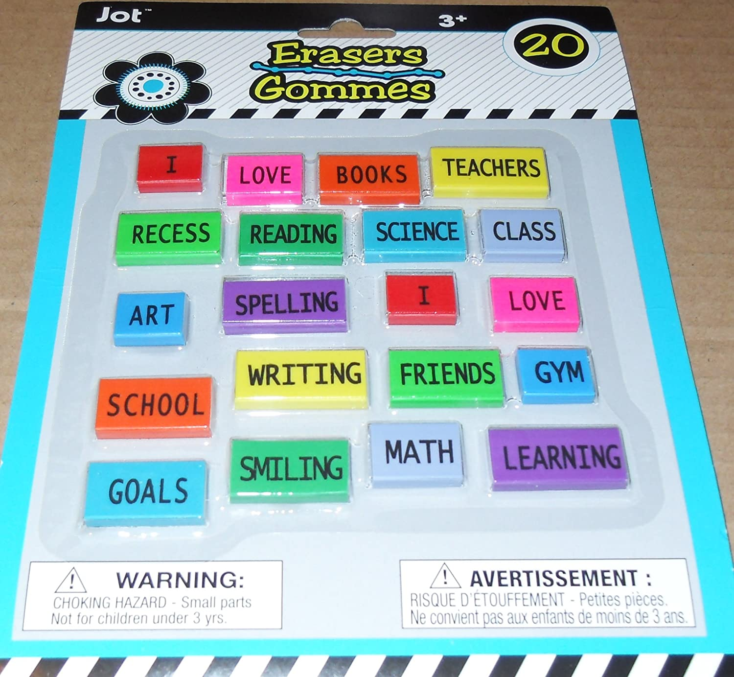 Reading Friends 20 erasers Greenbrier And More School I Writing Jot Erasers Books Love Word Erasers Recess