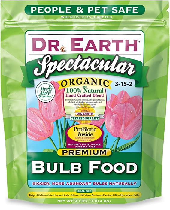 Dr. Earth 700P Organic 1 Bulb Fertilizer in Poly Bag, 4-Pound,Multi