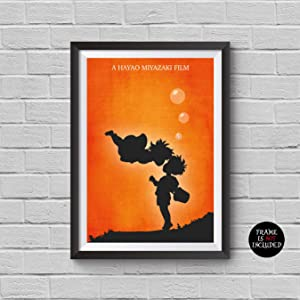 Ponyo Minimalist Poster Hayao Miyazaki Animation Movie Alternative Studio Ghibli Print Inspired Cinema Collection Gake no ue no Ponyo Artwork Wall Decor Illustration Art Wall Hanging Cool Gift