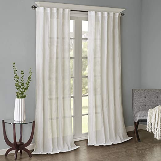 Amazon.com: Sheer Curtains For Bedroom, Modern Contemporary White