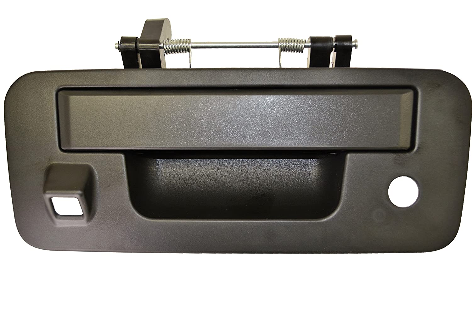 Tailgate Handle with Camera Hole Textured Black PT Auto Warehouse NI-3954A-TGC