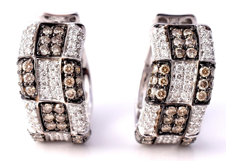 Amazon.com: LeVian Chocolate Diamond Earrings 1.85 cttw (Clarity ...