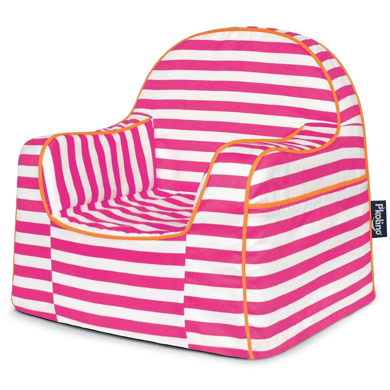 Stripes Pink P'Kolino Little Reader Chair, Light bluee