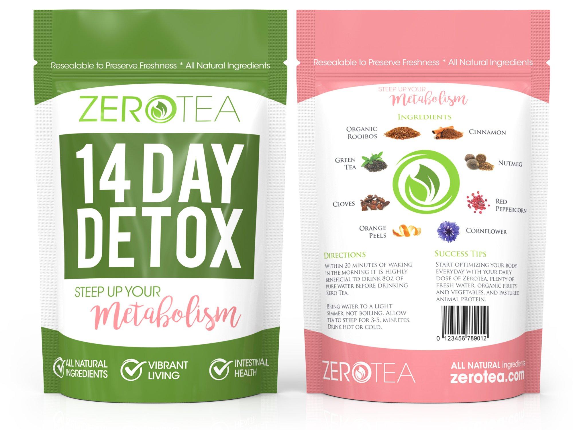 Zero Tea 14 Day Detox Tea Weight Loss Tea Teatox Herbal