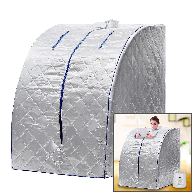 (US Stock) Home Sauna Box Portable Therapeutic Steam Sauna Negative Ion Detox Hindom