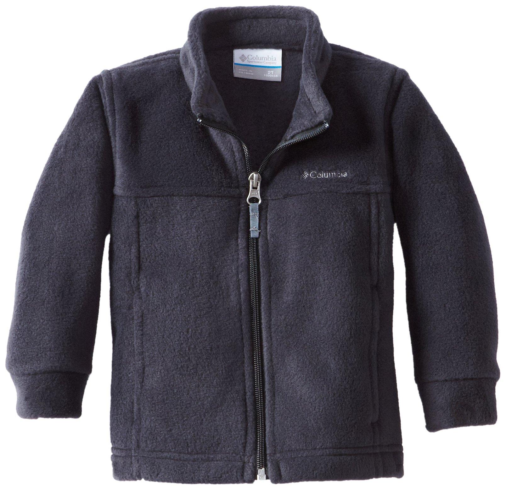 Columbia Little Boys' Steens MT II Fleece Jacket, Black, 4T
