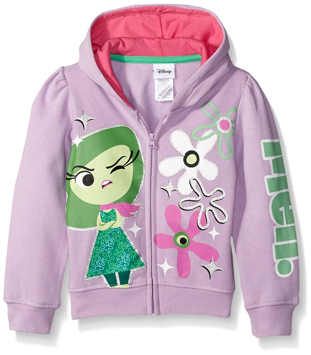 Disney Girls Inside Out Disgust Meh Hoodie DD