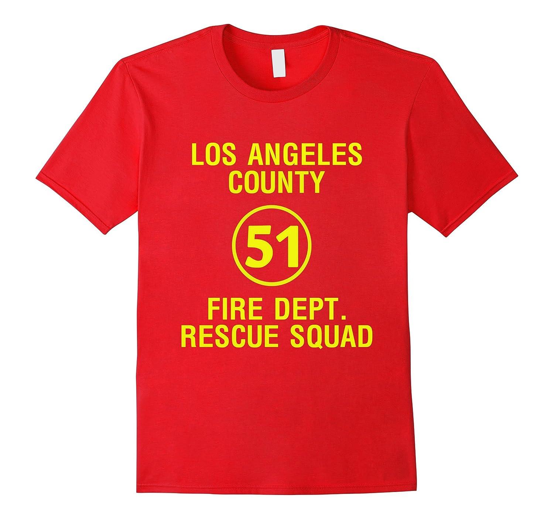 L.A County Fire Dept. Rescue Squad 51 T-shirt-CL