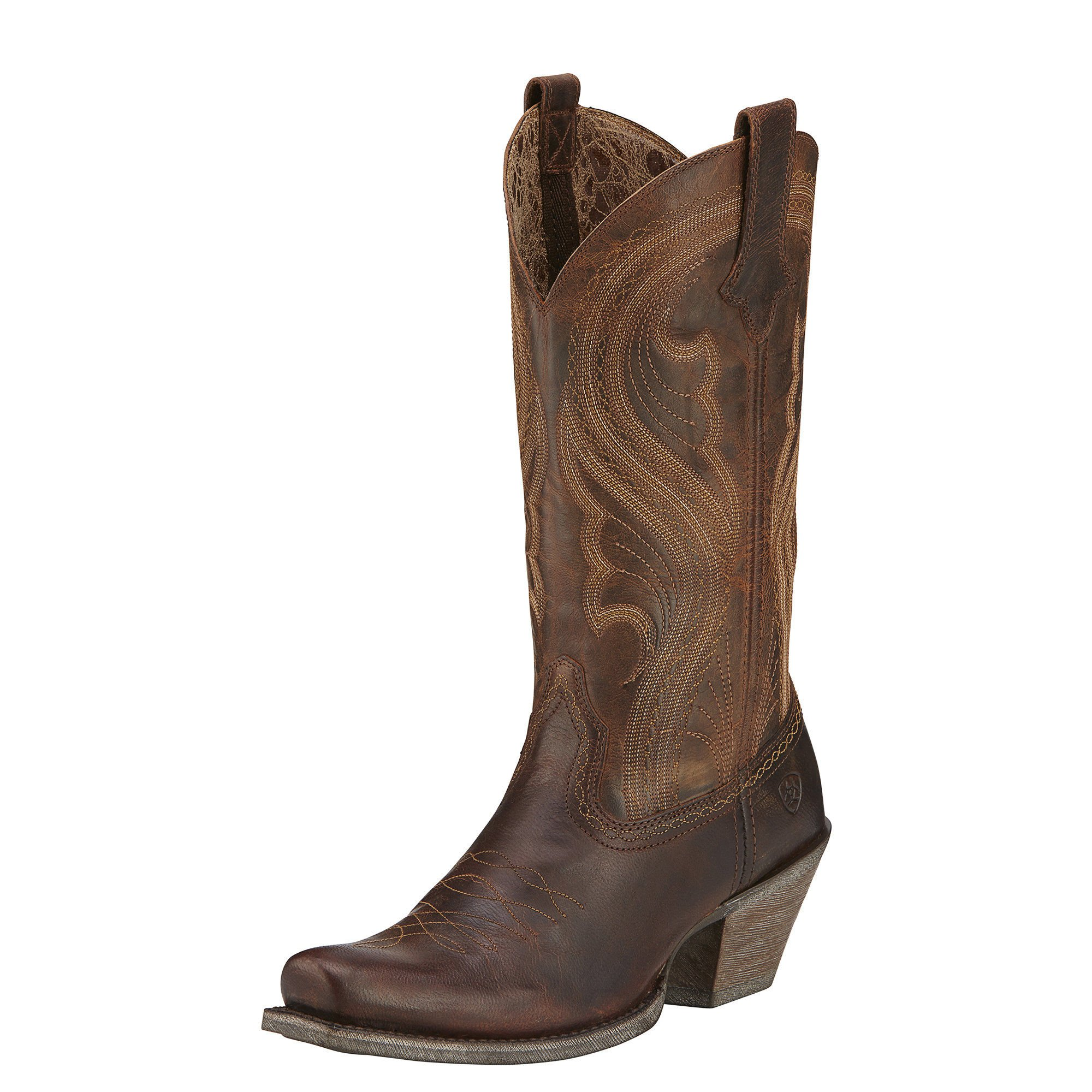 Ariat Women's Lively Western Cowboy Boot, Sassy Brown, 6 B US by Ariat (Image #1)