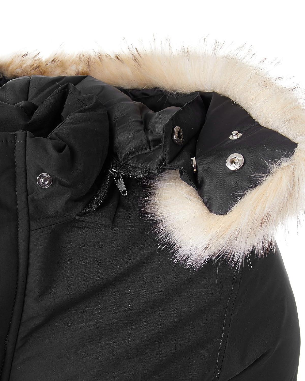 EightyFive Herren Herren Herren Winter-Jacke Fell-Kapuze Gesteppt Zipper Khaki Navy Schwarz EF321 B074XJ3PQD Jacken Ausgezeichnete Dehnung 98a4bb
