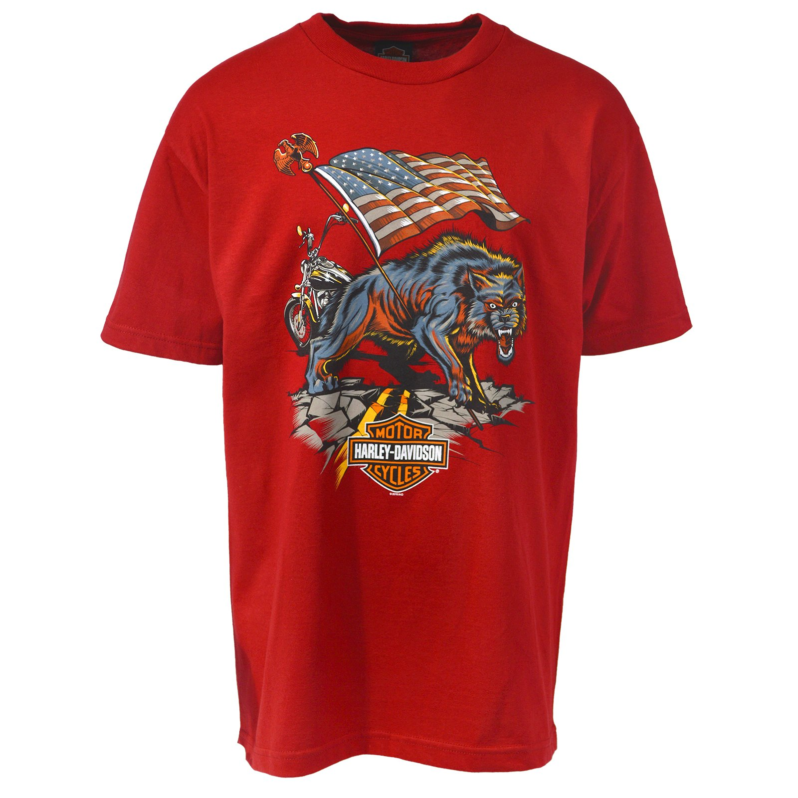 ca4a87f89 Harley-Davidson Lone Wolf T-Shirt - Military Sales   NAS Sigonella XL  Apparel