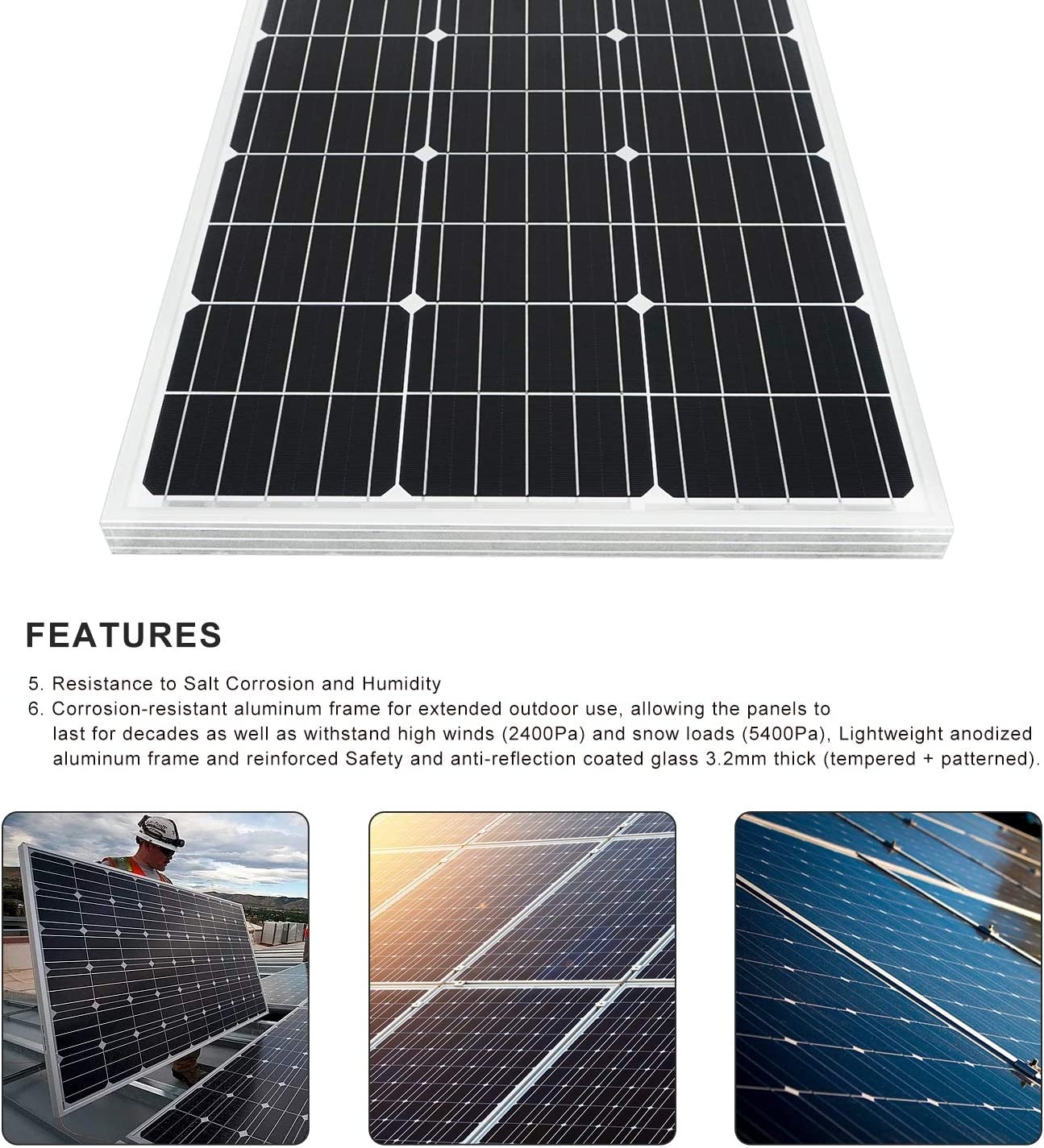 Controller Irrigation 2pc 100W Poly Solar Panel ECO-WORTHY 24V Deep Well Stainless Steel Water Pump