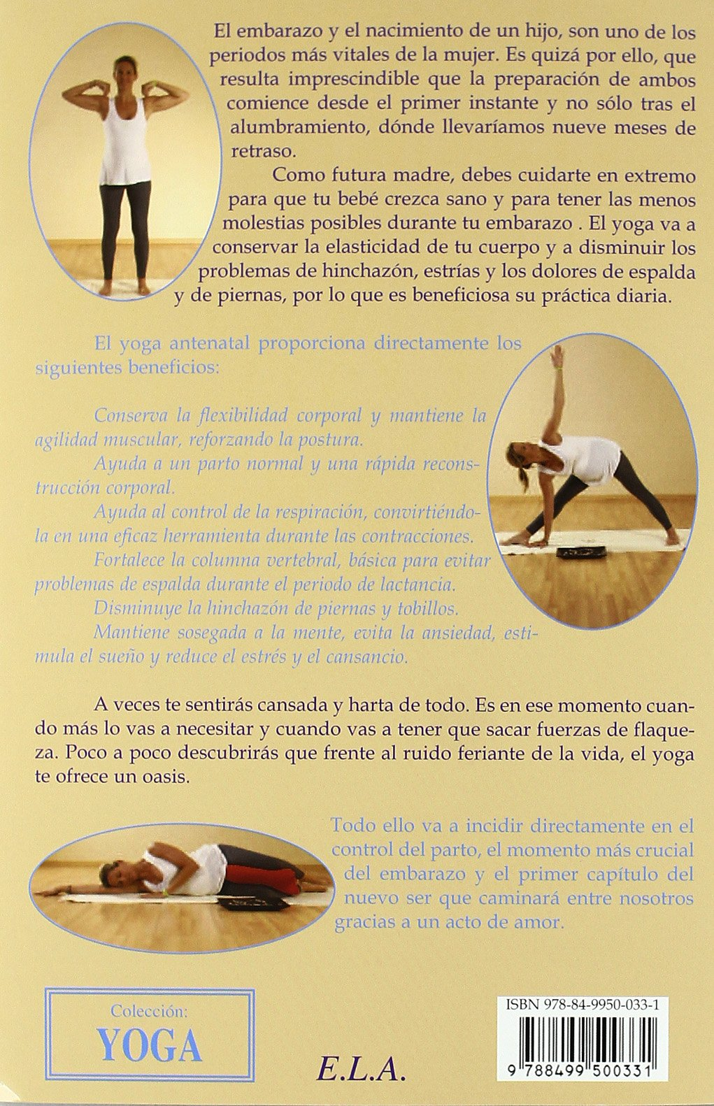 Yoga para embarazadas (+DVD) (Yoga (e.L.A.)): Amazon.es ...