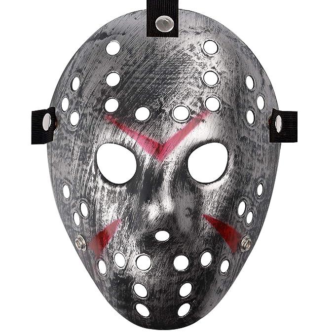Amazon.com: Jason Máscara de hockey de PVC con cabeza ...