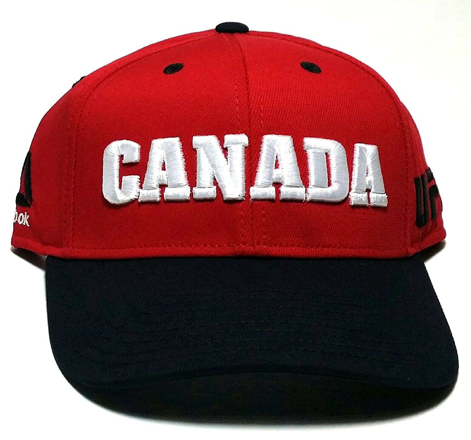 Amazon.com   UFC Reebok MMA Red White Black Canada Country Pride Adjustable  Snapback Hat Cap   Sports   Outdoors fc09ee264466
